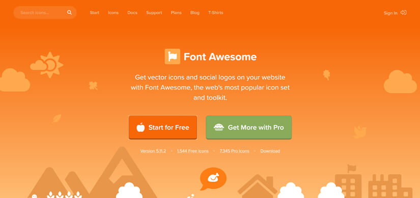 Font Awesome web